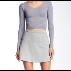 Womens American Apparel Gray Mini Skirt - Sz S